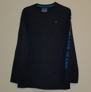 Calvin Klein boys navy blue long sleeve shirt